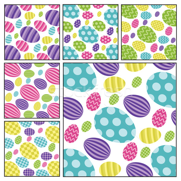 Easter egg backgrounds in vector format. Stock photo © piccola