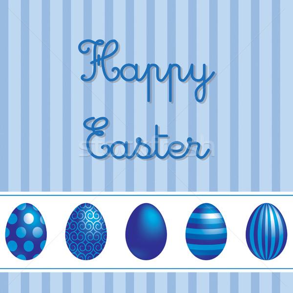 İngilizce vektör Paskalya yumurta kart Stok fotoğraf © piccola