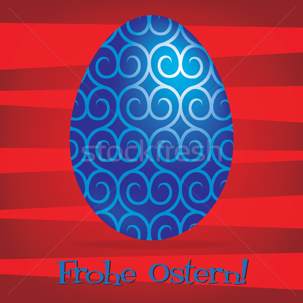 Bright German Happy Easter card in vector format. Stock photo © piccola