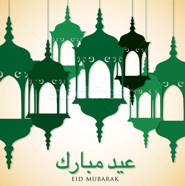 Latarnia karty wektora format ramadan hojny Zdjęcia stock © piccola