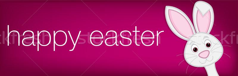 Stock fotó: Rejtőzködik · húsvéti · nyuszi · szalag · vektor · formátum · papír