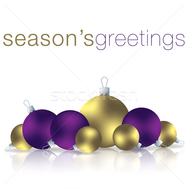 Season's Greetings bauble card in vector format. Stock photo © piccola