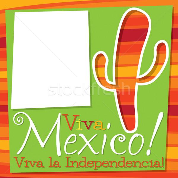 Cinco De Mayo cactus card in vector format. Stock photo © piccola