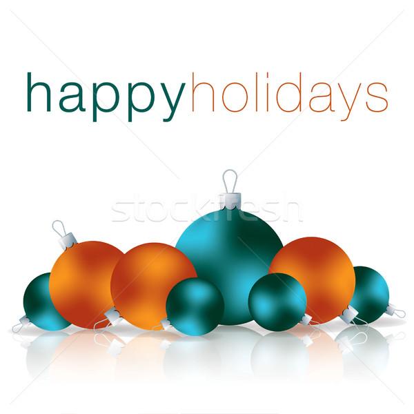 Mutlu tatil önemsiz şey kart vektör format Stok fotoğraf © piccola