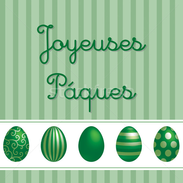 French vector Easter card design. Stock photo © piccola