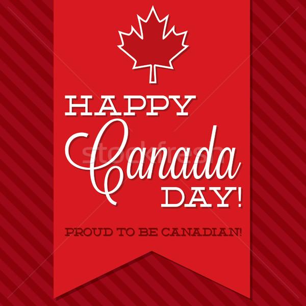 Canada Day sash card in vector format. Stock photo © piccola