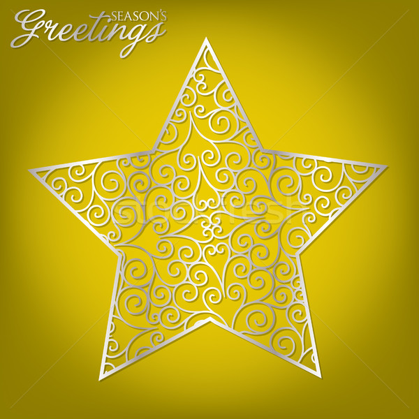 Stock photo: Elegant filigree Christmas card in vector format.