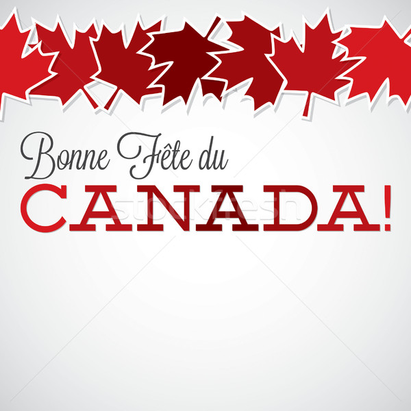 Leaf line Canada Day card in vector format. Stock photo © piccola