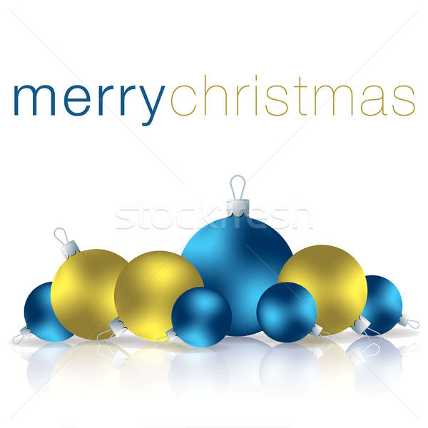 Merry Christmas bauble card in vector format. Stock photo © piccola