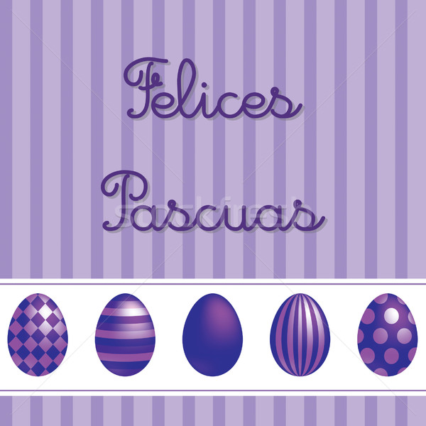 Spanish vector Easter card design. Stock photo © piccola