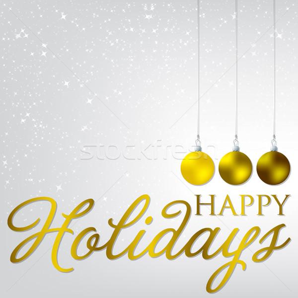 Elegáns csecsebecse karácsonyi üdvözlet vektor formátum boldog Stock fotó © piccola