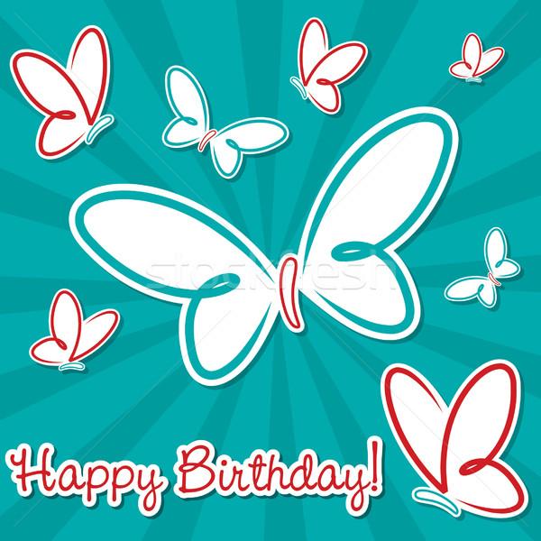 Papillon vecteur format texture fête Photo stock © piccola