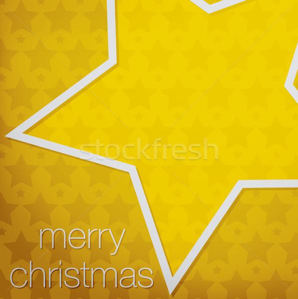 Kivágás vidám karácsony csillag kártya vektor Stock fotó © piccola