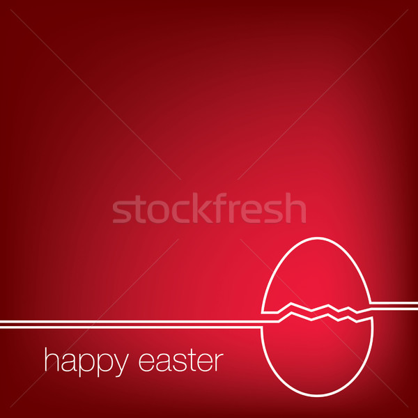 Continuous line Easter egg card in vector format. Stock photo © piccola