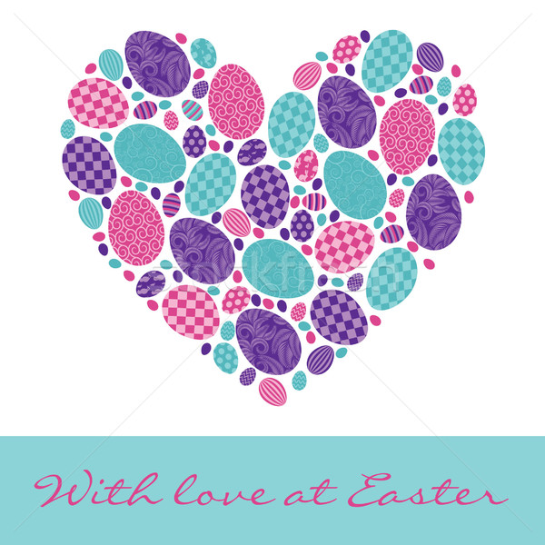 English 'With love at Easter' Card in vector format Stock photo © piccola