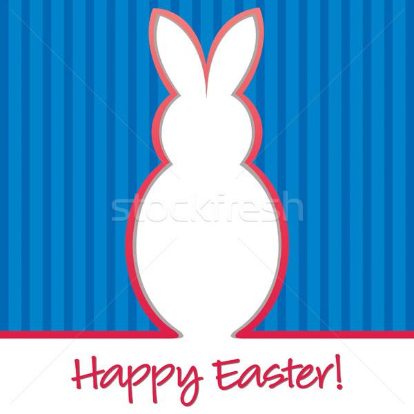 Easter bunny karty wektora format tekstury świetle Zdjęcia stock © piccola