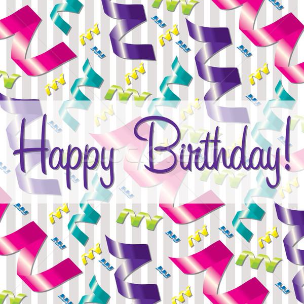 şerit vektör format sevmek doğum günü Stok fotoğraf © piccola