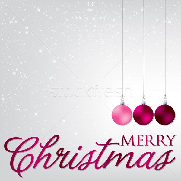 Elegáns csecsebecse karácsonyi üdvözlet vektor formátum fa Stock fotó © piccola