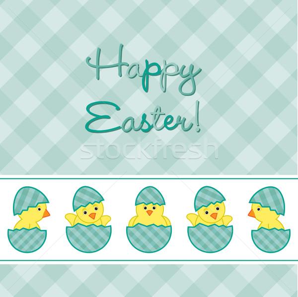 Baba húsvét kártya vektor formátum Stock fotó © piccola