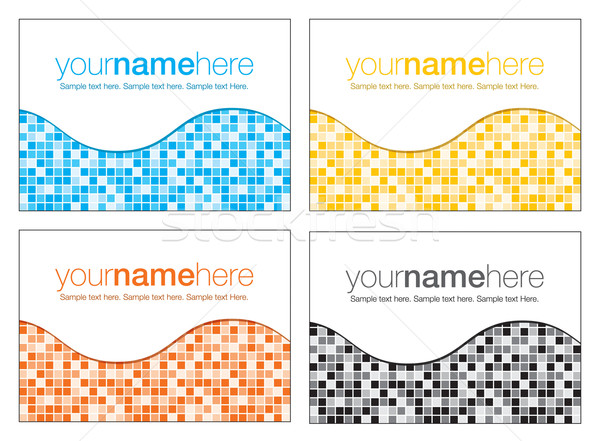 Abstract mosaic business backgrounds in vector format. Stock photo © piccola