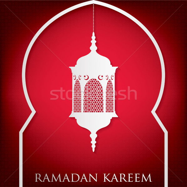 Window 'Ramadan Kareem' (Generous Ramadan) card in vector format. Stock photo © piccola