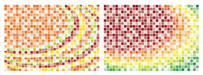 Mosaic abstract backgrounds in vector format. Stock photo © piccola
