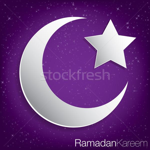 Ramadan genereus kaart vector formaat papier Stockfoto © piccola