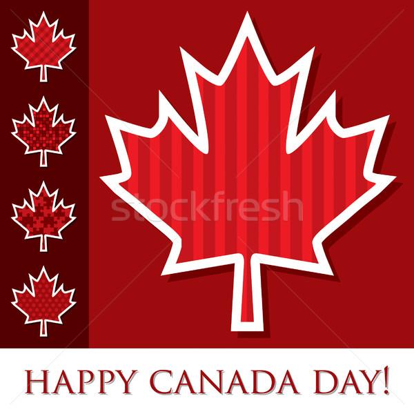 Stock fotó: Boldog · Kanada · nap · matrica · kártya · levél