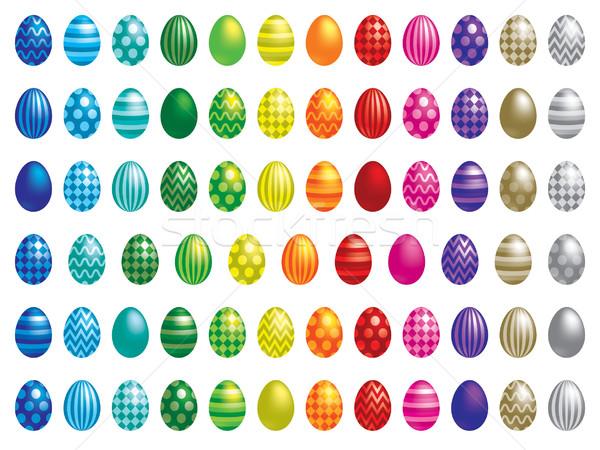 Húsvéti tojások vektor formátum húsvét tojás narancs Stock fotó © piccola