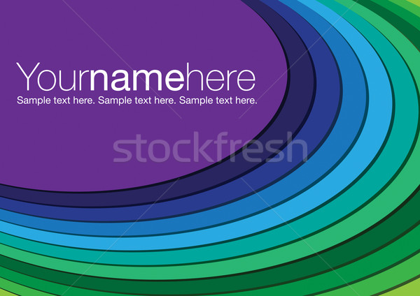 Cool toned oval background in vector format. Stock photo © piccola