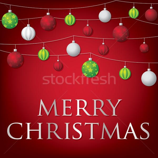 строку Рождества карт вектора формат счастливым Сток-фото © piccola