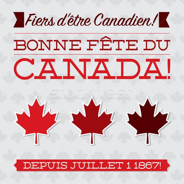Kanada gün kart vektör format Stok fotoğraf © piccola