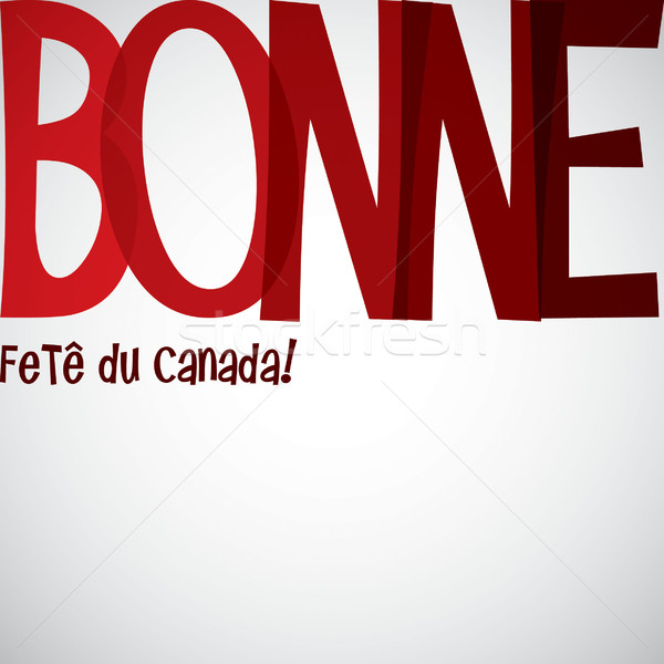 Typographic Canada Day card in vector format. Stock photo © piccola