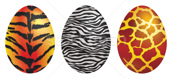 Animal print Easter eggs in vector format. Stock photo © piccola
