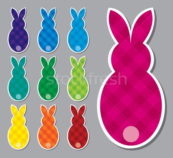 Easter bunny naklejki wektora format Wielkanoc Zdjęcia stock © piccola