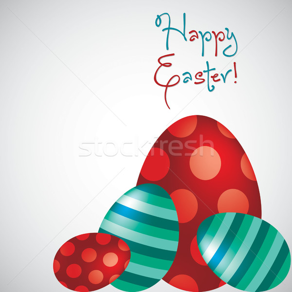 Happy Easter egg card in vector format. Stock photo © piccola