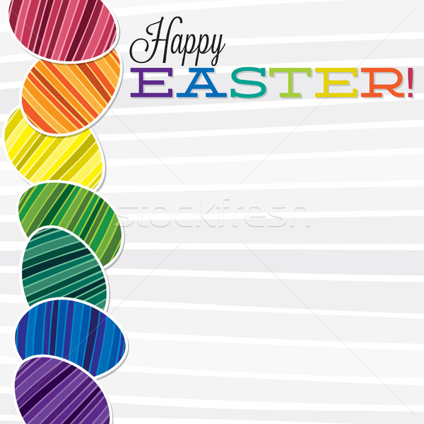 Bright retro Happy Easter card in vector format. Stock photo © piccola