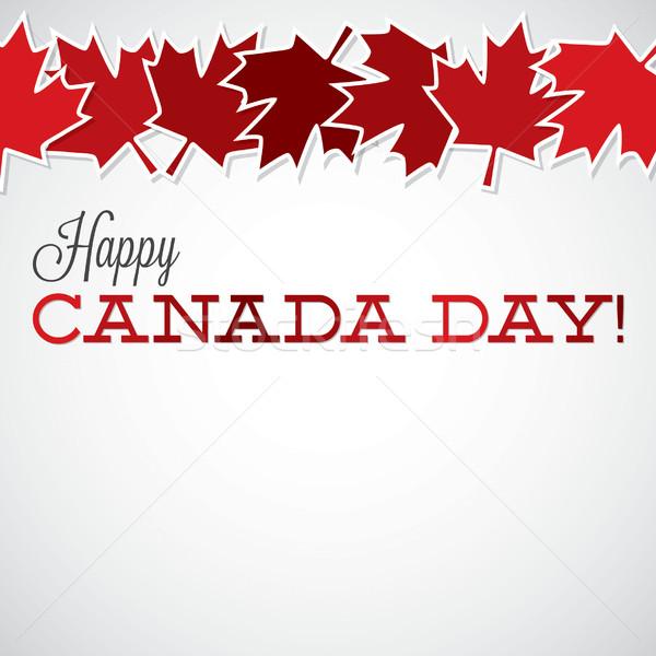Stock fotó: Levél · vonal · Kanada · nap · kártya · vektor