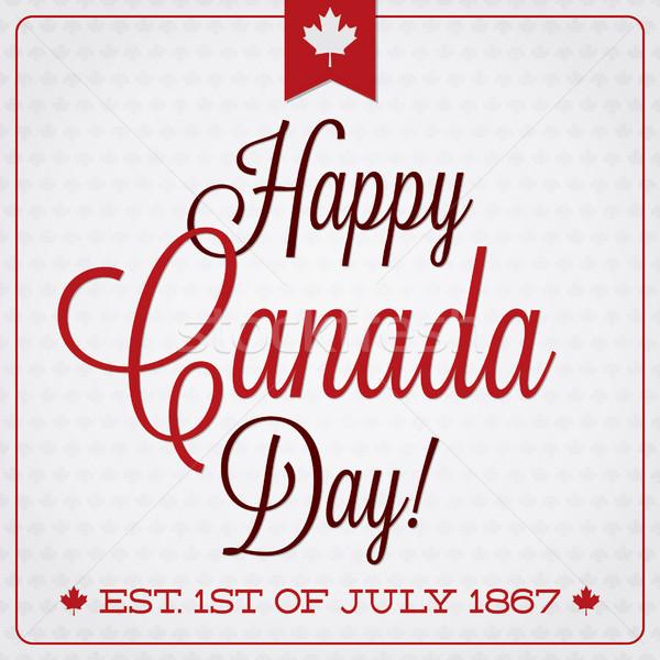 Mutlu Kanada gün Retro kart vektör Stok fotoğraf © piccola