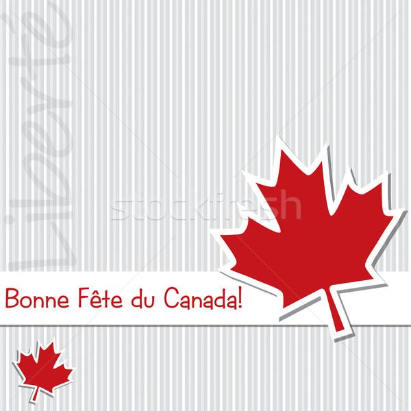 Szczęśliwy Kanada dzień naklejki karty wektora Zdjęcia stock © piccola