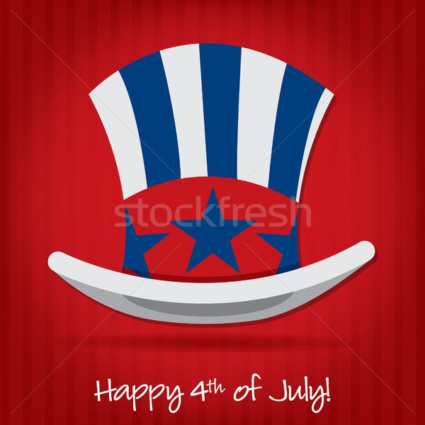 Patriotyczny wujek hat karty wektora Zdjęcia stock © piccola