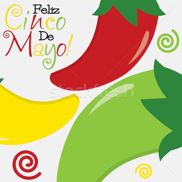 Cinco de Mayo (Happy 5th of May) card in vector format. Stock photo © piccola