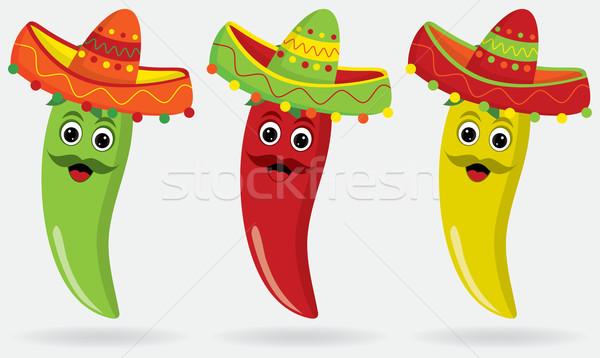 Mexikói betűk szombréró papír absztrakt háttér Stock fotó © piccola
