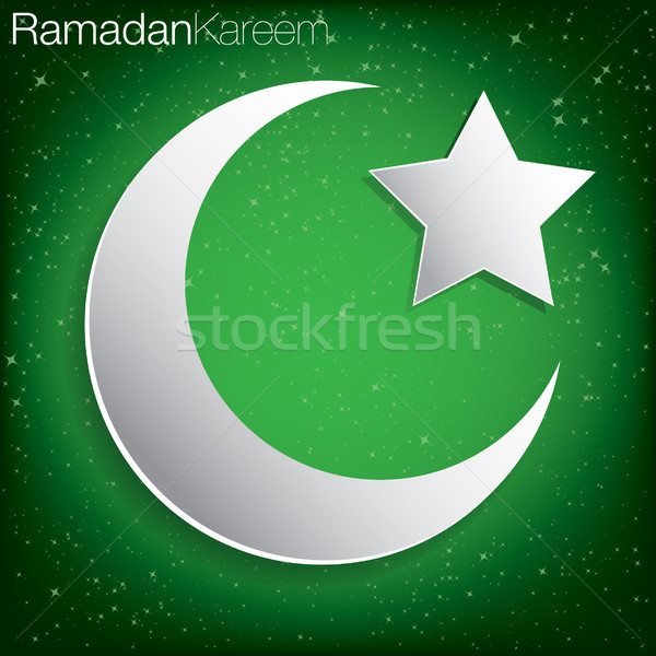 'Ramadan Kareem' (Generous Ramadan) card in vector format. Stock photo © piccola