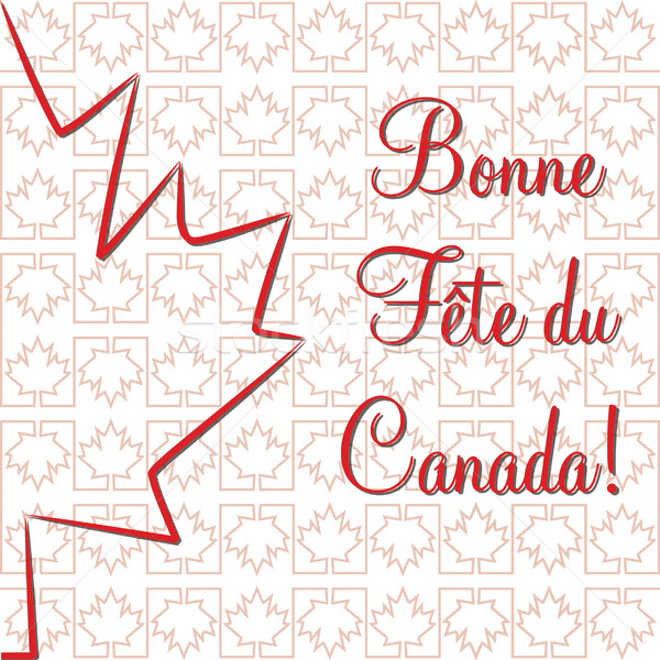 Maple leaf 'Happy Canada Day' card in vector format. Stock photo © piccola