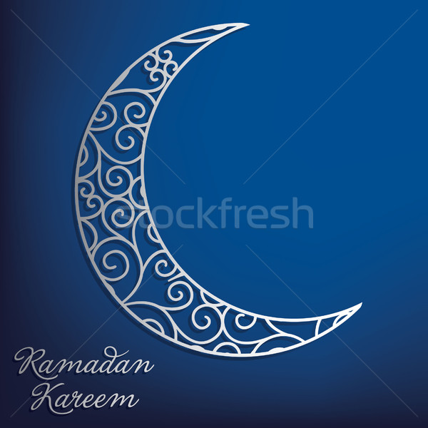 Ramadan généreux lune carte vecteur texture Photo stock © piccola
