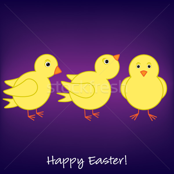 Cheep! Cheep! Happy Easter card in vector format. Stock photo © piccola