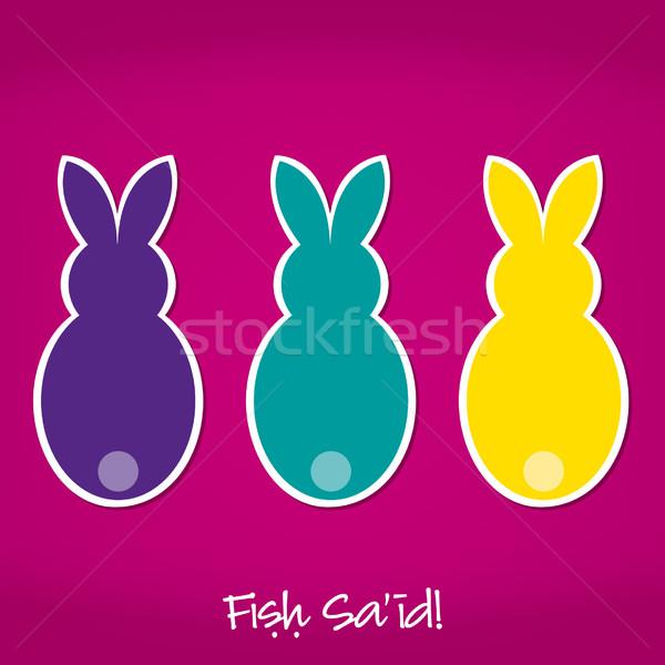 Arabskie Easter bunny karty wektora format papieru Zdjęcia stock © piccola