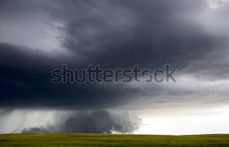 Saskatchewan céu natureza paisagem tempestade Foto stock © pictureguy