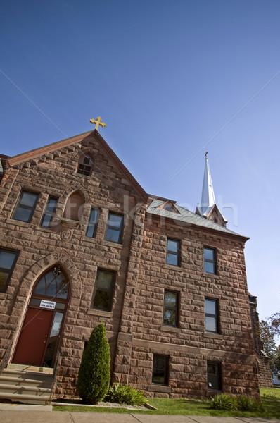 Церкви Висконсин озеро небе облака здании Сток-фото © pictureguy